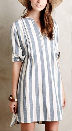 striped tunic dress