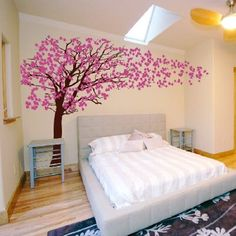 Cherry Blossom Tree - Blowing in the Wind Wall Decal Sticker Graphic ( for our living room) Cherry Blossom Tree, Blossom Trees, Cherry Tree, Interior Decorating, Interior Design, Wall Decal Sticker, Wall Stickers, Tree Wall, Bedroom Wall