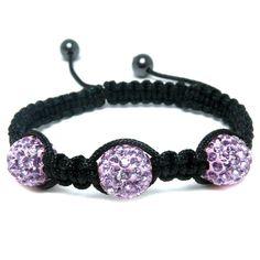 Purple Diamante & Hematite Bead Fashion Bracelet, Puckator USA & Canada Giftware Wholesalers