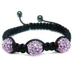 Purple Diamante & Hematite Bead Fashion Bracelet, Puckator USA & Canada Giftware Wholesalers