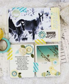 Welcome Spring Layout by Melissa Phillips for Papertrey Ink (April 2014)
