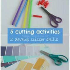 scissor exercises for children - happy hooligans - kids cutting skills