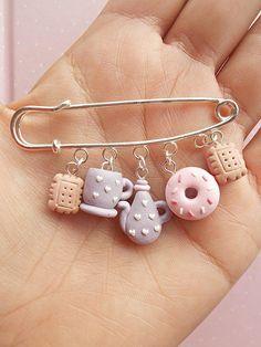 Miniature food jewelry Food Pins Kawaii Pins Tea Jewelry