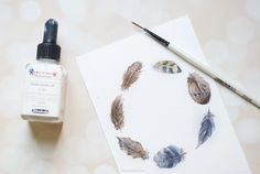 HOW TO MAKE A SIMPLE WATERCOLOR FEATHER WREATH