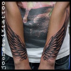 131 Angel Wings Tattoo Ideas And Meanings Forearm Wing Tattoo, Arm Tattoos, Back Tattoo, Tribal Tattoos, Body Art Tattoos, Sleeve Tattoos, Tattoo Wings, Celtic Tattoos, Tatoos