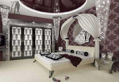 Bedroom interior decorating ideas for teenage girl bedroom with personal style decor.Girls prefer Pink & purple bedroom ideas and decor for lovely room.