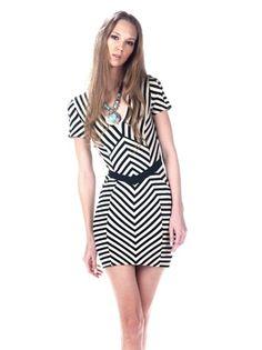 Torn Caterina Panel Dress - Black $220