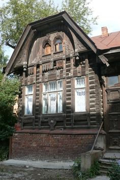 Tomsk, house in Art Nouveau style, early 20th century