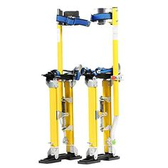 Pentagon Tools 1150 Yellow MAG Stilts 18-30 Mag Pros Magnesium Drywall Highest Quality Stilts, 30 Height, 8 Width, 6 Length, 228 lb. Load Capacity, Yellow