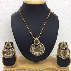 Check out #polki #pendant #set #designs at IJO