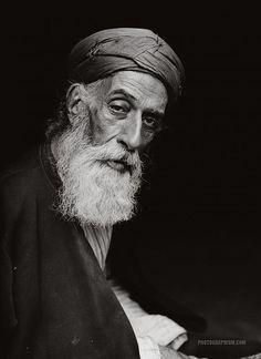 Old Samaritan High Priest: Nablus, Palestine 1900-1920
