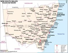 Print on Demand #NewSouthWales #Road #Map