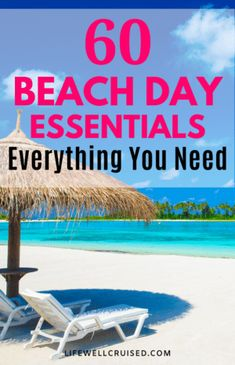60 Beach Day Essentials Everything You Need Vacation Packing, Cruise Travel, Cruise Vacation, Beach Tent, Beach Umbrella, Best Beach Bag, Cruise Ship Reviews, Cruise Excursions, Beach Artwork