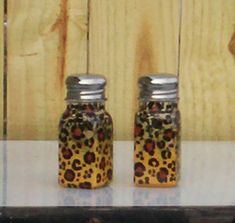 Leopard Print Salt and Pepper Shakers Handpainted by ourhousecraft, $13.95