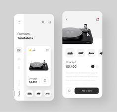 Shop App by Dmitry Tomashevsky Ios 7 Design, Minimal Web Design, Mobile Ui Design, Dashboard Design, Design Design, Design Trends, Wireframe, App Design Inspiration, Website Design Layout