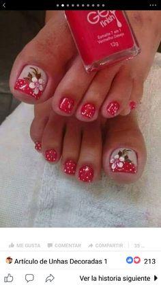 Toe Nail Designs, Toe Nails, Nail Art, Beauty, Toenails, Nail Colors, Short Square Nails, Gadgets, Nail Bling