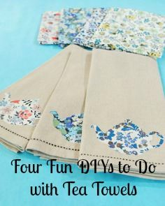 Four Fun DIYs to Do with Tea Towels |