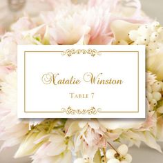 printable place card template instant download ornate escort card editable colors mac or pc word pages flat or folded bridal wedding