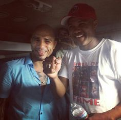 """June 7, 2014 was a memorable day for two great great champions , Miguel Cotto, won his 4 division World title & Felix """"Tito """" Trinidad,  was inducted to The boxing hall of fame (Photo 6/9/2014 ) Thank you for makig our Island Shine with Pride!!!"""