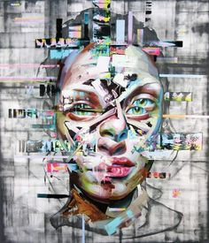 Los Angeles based artist Justin Bower's larger than life oil paintings feature anonymous subjects that appear digitized, but are painstakingly hand-painted. Through their expressive, glitchy fa...