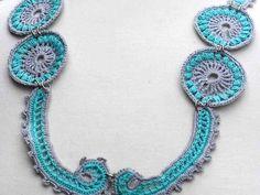 Crochet Necklace Irish Crochet Bib Necklace by Nothingbutstring