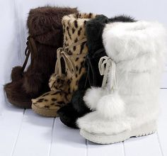 *NEW* Lexi Fur Boots in Cream ~ Toddler and Girl sizes