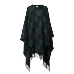 Edinburgh 100% Lambswool Scottish Tartan Long Cape * Read more reviews of the item by visiting the link on the image.