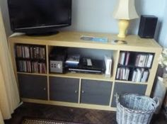 IKEA Hackers: Easy (really easy) way to change Expedit Shelving into a media centre