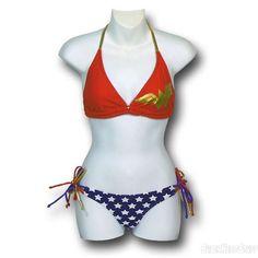 Wonder Woman Halter String Bikini Women's Swimsuit