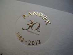 Gold foil embossed with a deboss (Plate sunk) section on the card