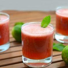 Watermelon Mojito Smoothie HealthyAperture.com