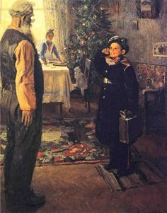 "Is this artist like the Soviet Norman Rockwell? ""Back from Holiday by Pavlovich."