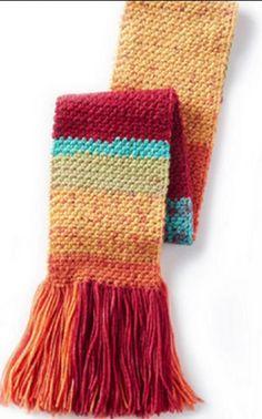 Crochet Simple Texture Scarf Featuring Caron Cakes + Tutorial