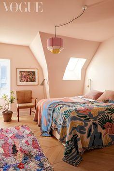 """The House Where Colour Lives"": Inside Stine Goya's Pastel-Hued Copenhagen Home | British Vogue Pink Master Bedroom, Master Bedroom Design, Cozy Bedroom, Bedroom Colors, Dream Bedroom, Girls Bedroom, Bedroom Decor, Bedrooms, Girl Nursery"