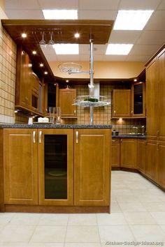kitchen peninsula ideas | ... of Kitchens - Traditional - Medium Wood Cabinets, Brown (Kitchen #18