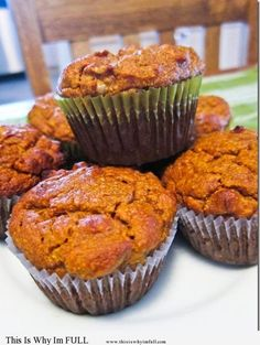 Paleo Pumpkin Walnut Muffins.  these would be divine on any Holiday morning.