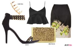 Add some gold accents to your outfit to add glamour and glitz, perfect for a night out. Check out JustFab Blog