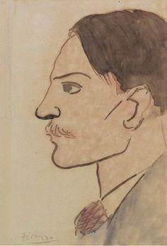 Pablo Picasso. Portrait of l`artiste. 1903 year