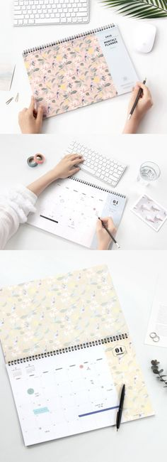 The 2018 Comely Desk Planner is super versatile and useful! It helps you to manage your plans, events, and projects effectively, and also gives you plenty spaces to write memos. The variety of cute patterns and detachable PVC cover are the other wonderful features of this desk planner. Meet the 2018 Comely Desk Planner for a fruitful 2018!