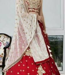 Red embroidery banglory lehenga with choli - Ambision Collection - 1742638 Lehenga Online, Red Lehenga, Ghagra Choli, Get Up, Red Color, Sari, Embroidery, Blouse, Beautiful