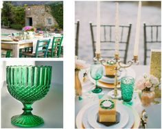 i would love to add some antique emerald glass touches to the decor Wedding 2017, Spring Wedding, Our Wedding, Wedding Stuff, Dream Wedding, Emerald Green Weddings, Jewel Tone Colors, Fancy Schmancy, Emerald Color