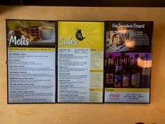New Digital Menu Board system in New York Grilled Cheese in Boca Raton, FL by Kayros Productions, Inc.