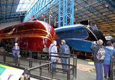 LMS Princess Coronation Class 6229 'Duchess of Hamilton' Class 4468 'Mallard' Electric Locomotive, Steam Locomotive, Steam Trains Uk, Diesel, Flying Scotsman, Train Posters, National Railway Museum, Rail Transport, Steam Railway