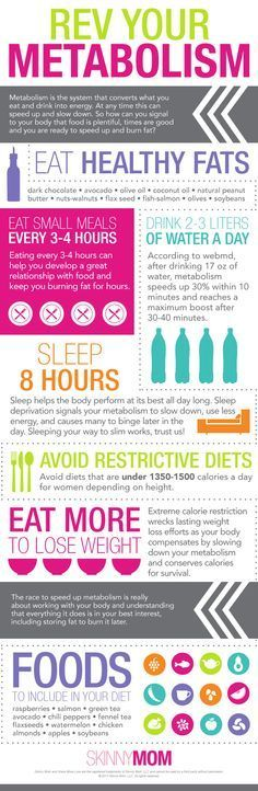 Looking to lose weight? Repin these helpful tips about your metabolism to get you revved up!
