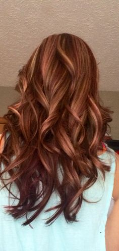 Red & blonde highlights