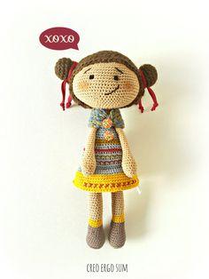 Crochet doll, Amigurumi Doll, OOAK, plush doll, soft toy, stuffed toy, new baby gift, cute doll, art doll, Waldorf doll