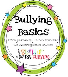 Entirely Elementary...School Counseling: Bullying Basics
