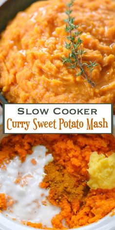 This Slow Cooker Curry Sweet Potato Mash is a welcome addition to any ...