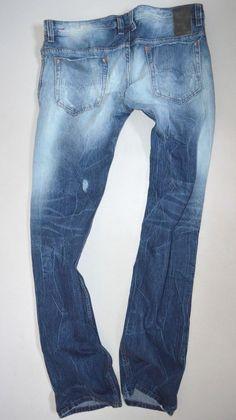 0ca9907b mens DIESEL SAFADO 0827V Destroyed Reg SLIM STRAIGHT LEG JEANS size W34 L34 Jeans  Fashion,