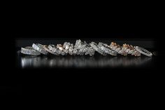 SERIE OF VARIOUS SHAPE ETERNITY DIAMONDS BANDS IN PlATINUM AND PINK GOLD COLUCCI DIAMONDS
